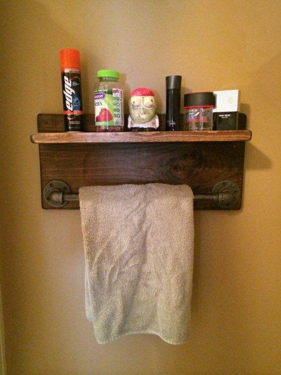 tuchtrockner holzregal badmöbel rustikal günstig                              …