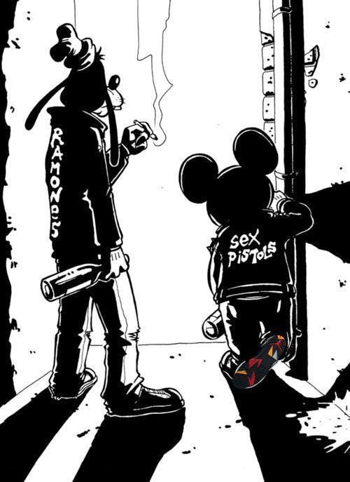 goofy & mickey mouse