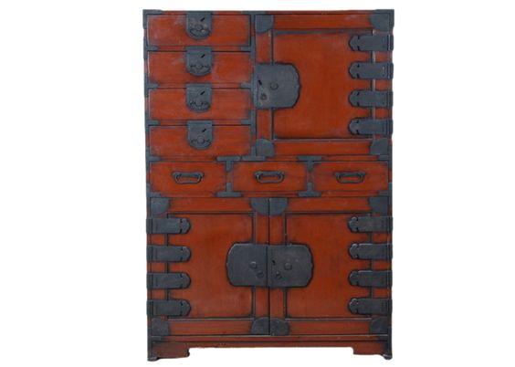 Vintage Japanese Tansu Cabinet   Chairish