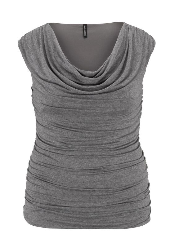 Neutral sleeveless drape neck plus size top - maurices.com