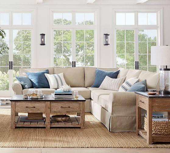 Parker Reclaimed Wood Coffee Table Coastal Living Rooms Farm