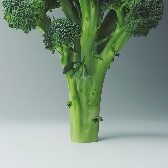 """broccoli carving for my sweetheart #broccolicarving"""