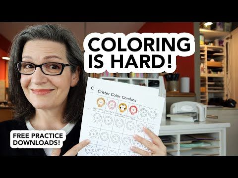 Struggle With Copic Coloring? Me, Too! But Practice Helps! Download My Practice  Sheets! - YouTube Copic Coloring, Practice Sheet, Copic