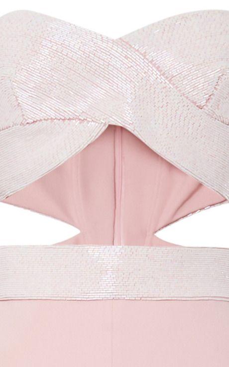 Embroidered Stretch Cady Desert Rose Jumpsuit by Cushnie et Ochs for Preorder on Moda Operandi