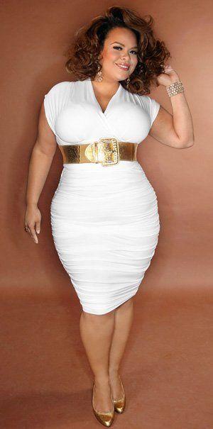 Plus size fashion - All White plus size outfits - Pinterest ...