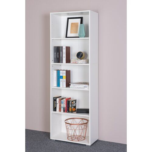 17 Stories Worthy Bookcase Bookcase Cube Bookcase Solid Wood