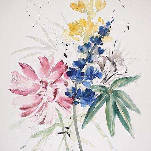 Vintage Botanical Watercolor Painting