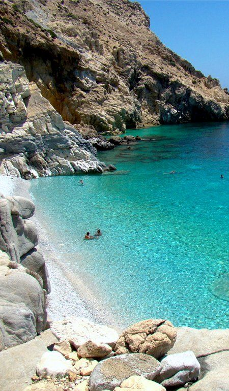Seychelles beach ~ Ikaria Island, Greece   - Explore the World with Travel Nerd Nici, one Country at a Time. http://TravelNerdNici.com