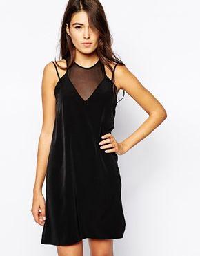 Oh My Love Mesh Insert Cami Dress