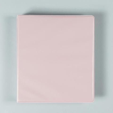 1 inch binder pastel pink school
