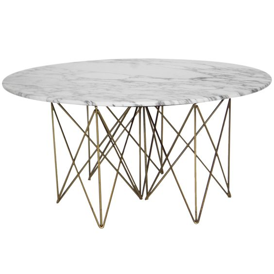 rene brancusi carrera marble and brass plated metal coffee table 1950s brass and metal furniture