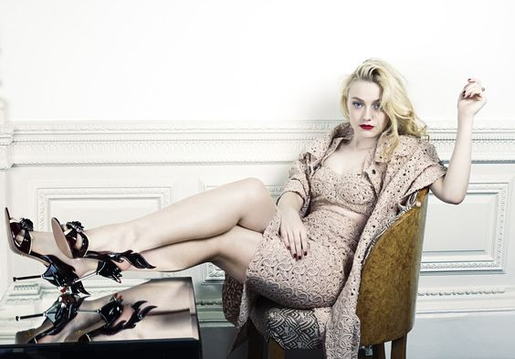 Dakota Fanning by David Slijper for Elle UK February 2012, styled by Anne-Marie Curtis