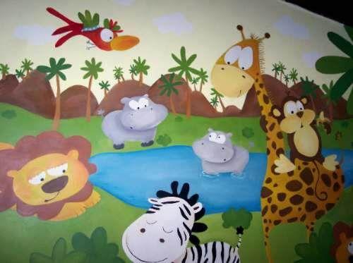 Murales infantiles trampaojo paisajes murales pintados for Murales infantiles