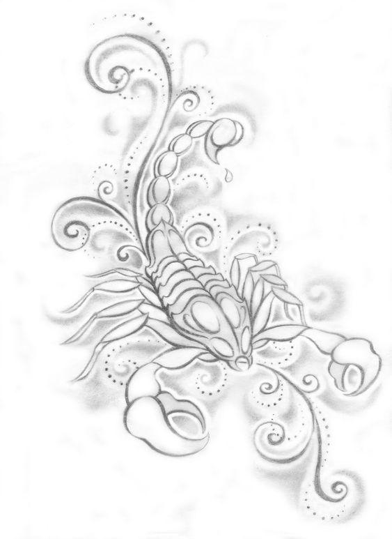 Girly scorpion tattoo