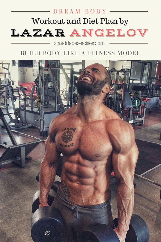 male fitness model workout and diet plan