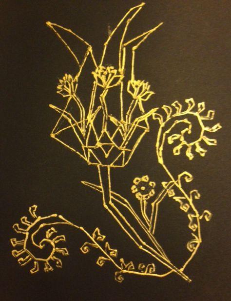 Tulip, carnation, paisley. Motif by Melis Gokturk