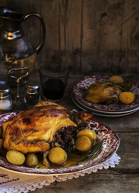 Pollo relleno asado a baja temperatura con salsa de sidra for Cocina a baja temperatura