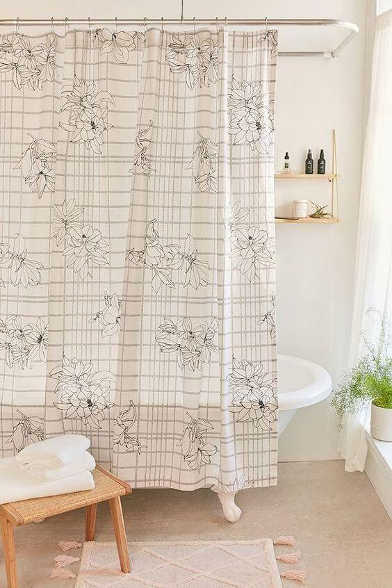 30 Elegant Bathroom Curtain Ideas 2020 You Should Try Dovenda In 2020 Shower Curtain Shower Curtain Decor Elegant Bathroom