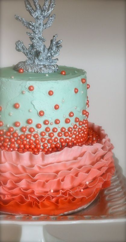 Coral Cake For 35th Wedding Anniversary CUPCAKES BY KECKIE