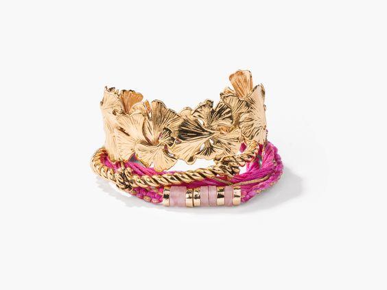 Tangerine bracelets stack
