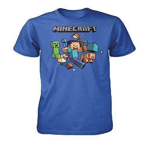Minecraft Niño Vintage Creeper Dualidad Top de manga corta camiseta Edad 7 a 14 Años - algodón, Azul Claro, 100% algodónntttt 100% algodón, De Niño, 9-10 Años #camiseta #starwars #marvel #gift