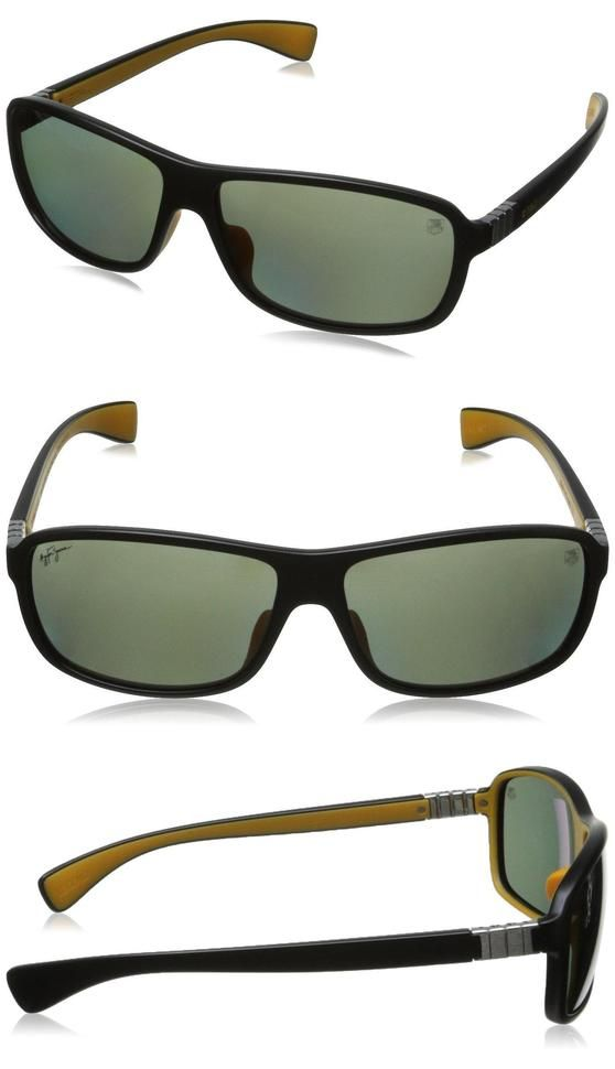 $460 - Tag Heuer Legend9302106 Rectangular Sunglasses,Black & Yellow,63 mm #apparel #eyewear #tagheuer #sunglasses #shops #women #departments #men