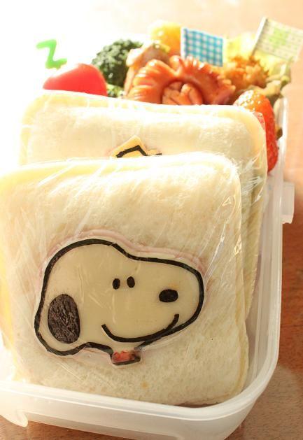 Snoopy sandwich bento