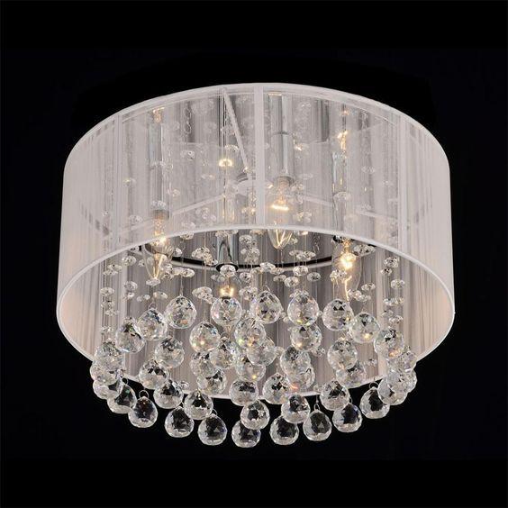 Flush mount ceiling chandelier. DIY inspiration (possibly ...