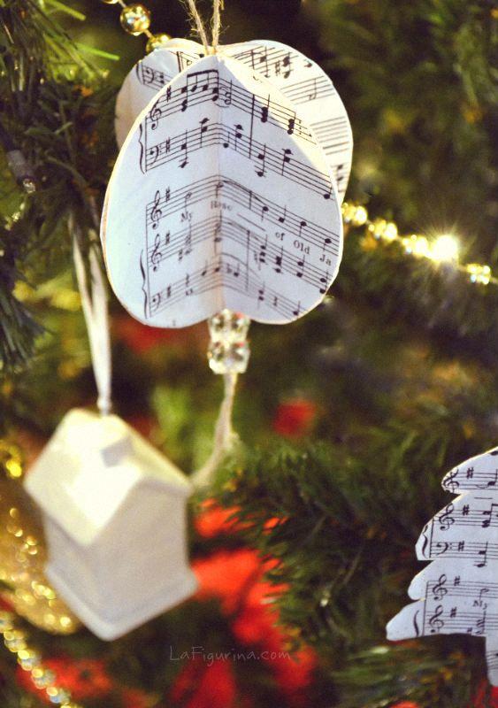 Addobbi Natalizi 3d.Addobbi Natalizi Con Note Musicali La Figurina Idee Natale Fai Da Te Decorazioni Di Natale Fai Da Te Note Musicali