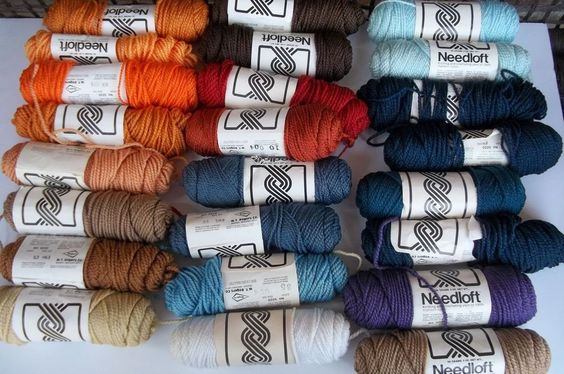 24 Mixed Colors Yarn Lot Needloft Nylon 2 Ply More Than 2000 Yards -sold, but click for more yarn