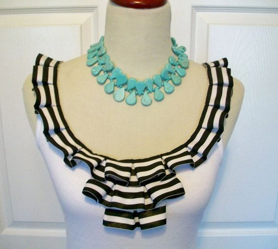 Embellished Tank Top with Fun Black and White by RaspberryMarket, $36.00