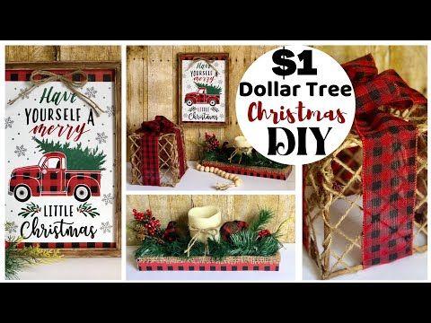 Christmas 2020 Youtube Dollar Tree DIYS | Buffalo Check Christmas Decor | Christmas 2020