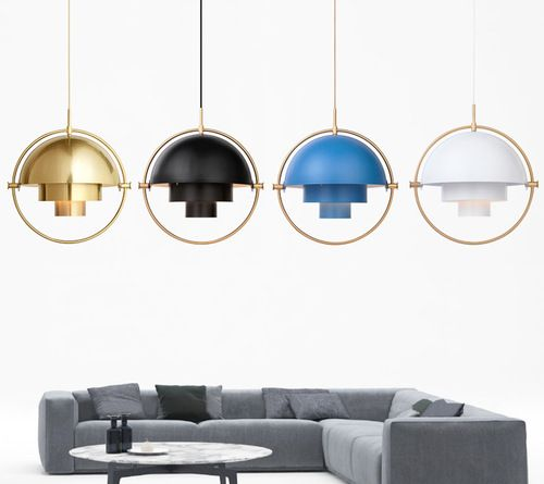 Modern Style Led Pendant Light Rotatable Metal Colorful Shades Dining Living Room Dining Pendant Light Pendant Light Styles Led Pendant Lights