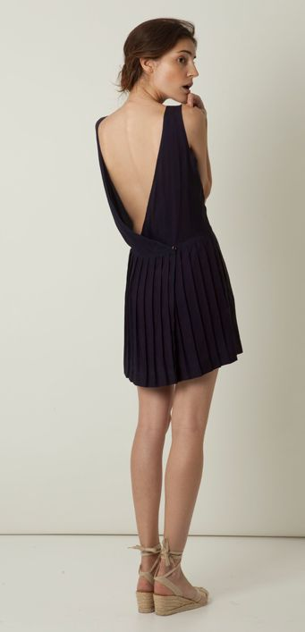 I love a plunging back dress. And with this length that isn't too short, that it feels naked to wear, and isn't too long that it feels to dressy, and dramatic.