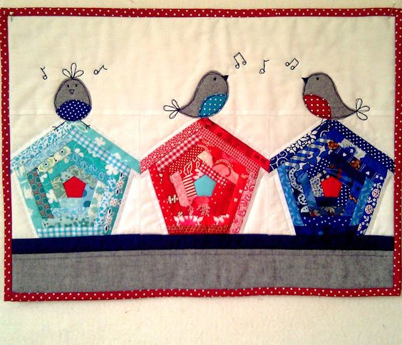 Birds and birdhouse quilt--I absolutely love it!!: