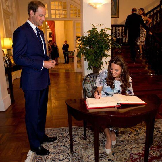 K: P-R-I-N-C-E-S-S. C-A- W: Hey! K: Too soon? #RoyalCaptionSlam #KateMiddleton