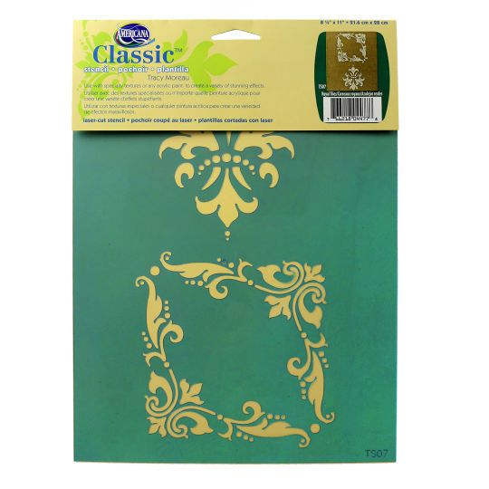 <div>This classic stencil features an elegant European design, perfect for embellishing home déc...