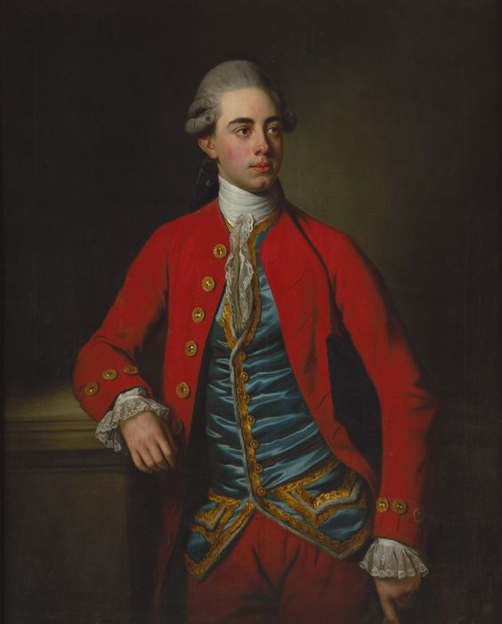 Portrait of George Augustus North, 3rd Earl of Guilford, 9th Baron North (1757-1802) Nathaniel Dance, later Sir Nathaniel Dance Holland MP, 1st Bart. (1735-1811)