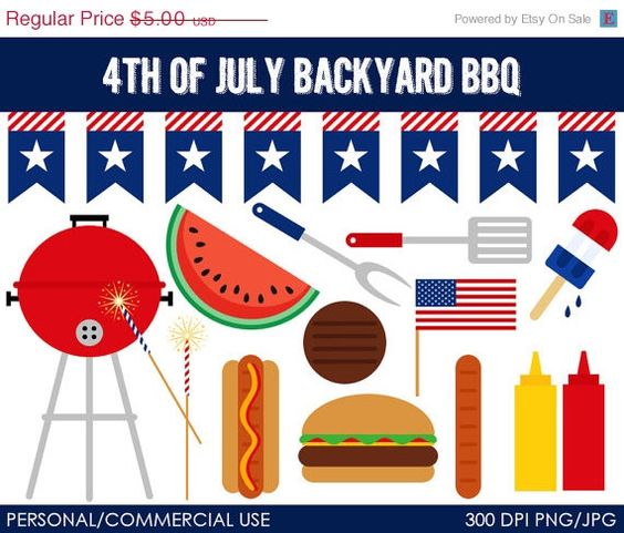 4th july bbq shopping list