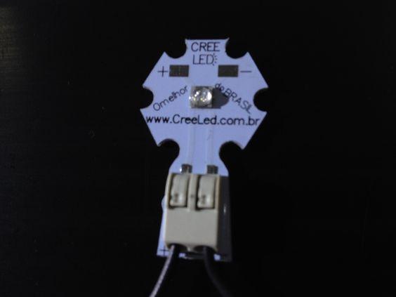 Detalhe do led Solderless com o fio montado :: www.creeled.com.br