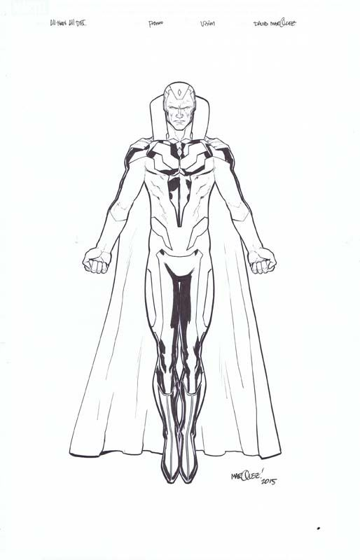 All New All Different Avengers Promo Images Issue Vision Avengers Coloring Pages Marvel Drawings Marvel Coloring