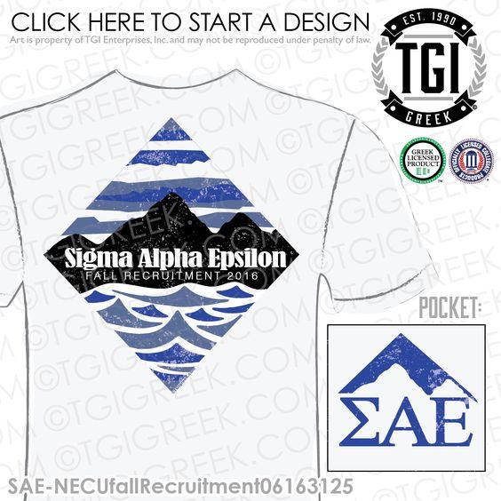 TGI Greek - Sigma Alpha Epsilon - Recruitment - Greek Apparel #tgigreek #sigmaalphaepsilon