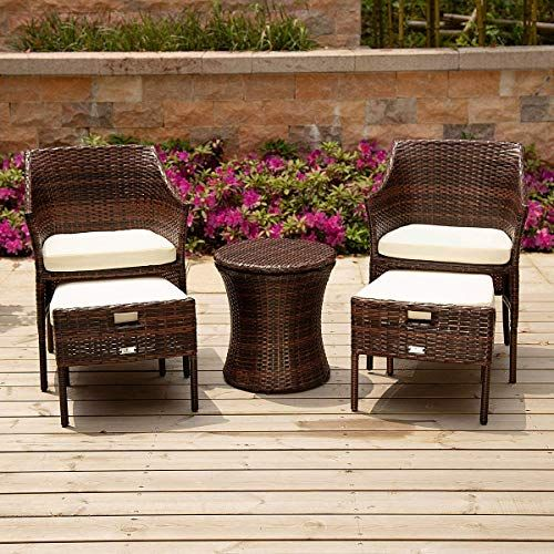Enjoy Exclusive For Pamapic 5 Pieces Outdoor Wicker Patio