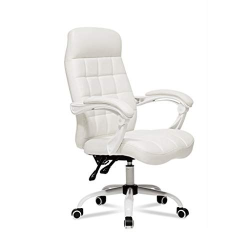 Zcx Computer Chair High Back Boss Chair White Office Chair