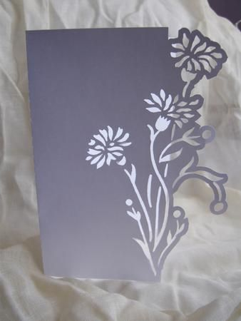 FLORAL 5 OVER THE EDGE CARD on Craftsuprint designed by Clive Couter - gsd files; with optional shaped backing plate - Now available for download!: