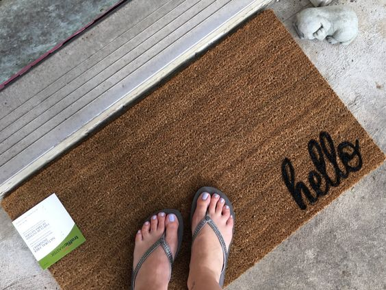 A personal favorite from my Etsy shop https://www.etsy.com/listing/464261989/custom-door-mat-welcome-mat-hello-door