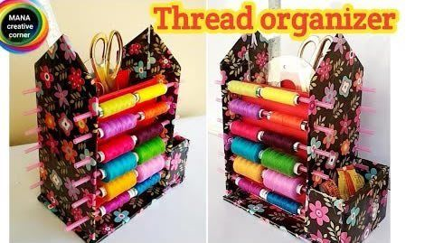 Diy Organizador De Hilos Reciclando Cartón Thread Organization Diy Embroidery Thread Craft Organization