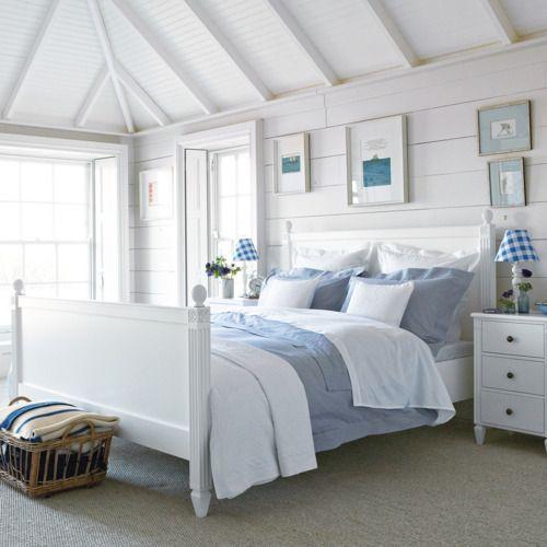 Blue White Simplicity Seaside Bedroom Coastal Bedroom Decorating