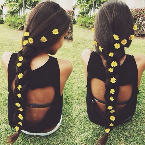 Sunflower Ponytail hair ponytail sunflower hair ideas hairstyles hair pictures hair designs hair images