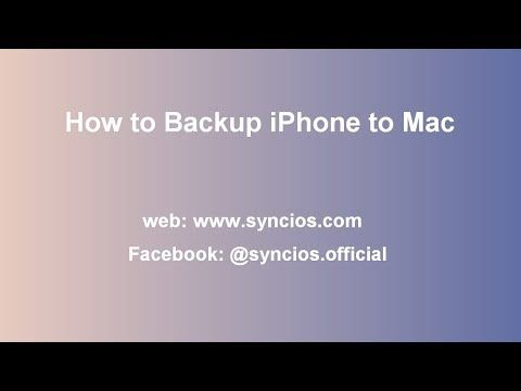 This Tutorial Shows Three Ways To Backup Or Sync Iphone Ipad Or Ipod Touch Data To Mac Syncios Manager For Mac Provide An Ultimate Mac Computer Backup Iphone